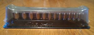 Snap On 112tmmsy 12 Piece 6 Point Metric Semi deep Socket Set 1 4 Drive 5 15mm