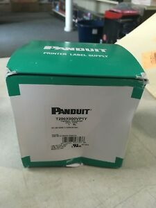 Panduit T200x00vp1y Thermal Transfer Continuous Vinyl Tape 100 2 White