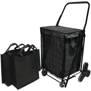 Helping Hand Fq39908bk Stair Climb Cart With Liner 2 Bags