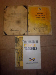 Allis chalmers H 3 hd 3 Crawler Part Manual allis Chalmers H3 hd3 Service Manual