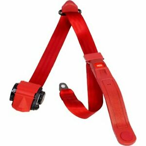 Beams Wsch201p Flm Red Seat Belt Flame Red 3 Point Universal