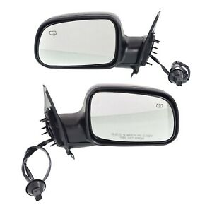 Set Of 2 Mirror Power For 2001 2004 Jeep Grand Cherokee Heated Textured Black