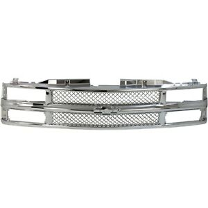 Grille For 94 99 Chevrolet K1500 C1500 Chrome