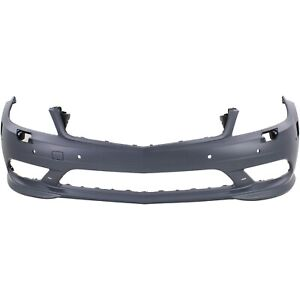 Frnt Bumper Cover For 2008 2011 M Benz C300 W Amg Drl Hlw Parktronic Holes Prmd