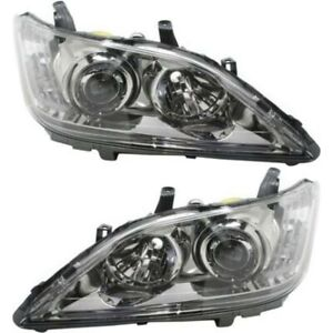 Headlight Set For 2010 2011 Lexus Es350 Left And Right Hid 2pc