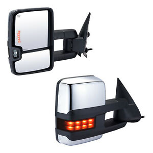 Vluxparts Towing Mirrors For 2003 2006 Chevy Silverado Gmc Sierra Power Heated
