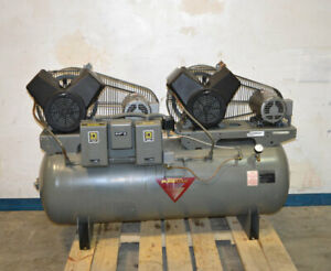 Johnson Controls Pureflow 80 gal Dual Air Compressor 2 hp 3 ph Baldor Square d