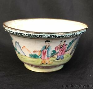 Antique Chinese Enamel Porcelain Bowl