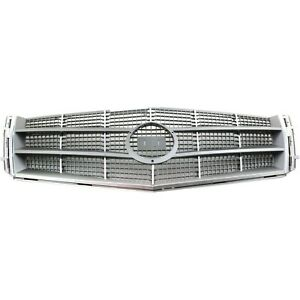 Grille For 2008 2011 Cadillac Cts Chrome Shell W Gray Insert Plastic