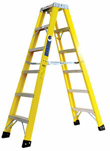 Titan 3000 12 Ft Fiberglass Double Ladder 300lb Capacity Type 1a Ex Heavy Duty