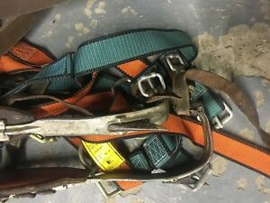 Klein Buhrke Pole Lineman Tree Climbing Spikes Belt Strap Equipment Rose Harness