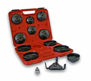 13 Piece Oil Filter Cap Wrench Set With 3 jaw Remover And 1 2 To 3 8 Reducer