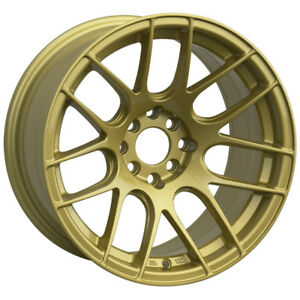 16x8 Xxr 530 4x100 114 3 20 Gold Wheel 1