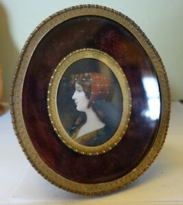 C53 Antique Shadow Box Metal Oval Picture Frame 6 X 5 1 8