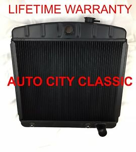 Chevrolet Radiator Black Aluminum 1949 1950 1951 1952 1953 1954 Passenger Car