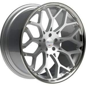 Giovanna Nove Ff 20x9 5 5x112 45mm Machined Silver Chrome Wheels Rims