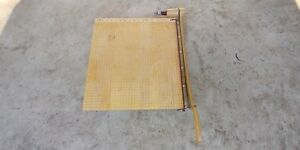 Vintage Ingento Paper Cutter 18 Guillotine Heavy Duty U s a School Crafts Book