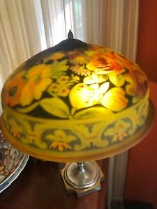 Pairpoint Reverse Painted Antique Table Lamp
