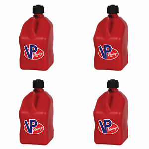 Vp Racing 5 Gallon Motorsport Racing Fuel Utility Jug Gas Can Red 4 Pack