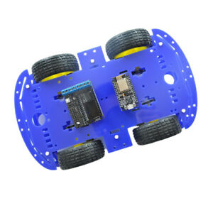 4wd Wifi App Remote Controlled Smart Car Kit For Arduino R3 Mega2560 Blue