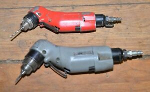 2 Sioux 5000 Rpm Air Pneumatic Drill Vintage Us Quality Aviation Grade Tool Lot