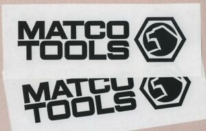 2 Matco Tools 6 Black Decals Stickers For Toolbox Cars Truck Windows