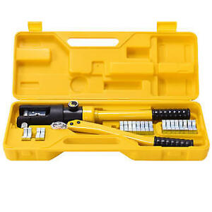 Goplus 16 Ton Hydraulic Wire Terminal Crimper Battery Cable Lug Crimping Tool W