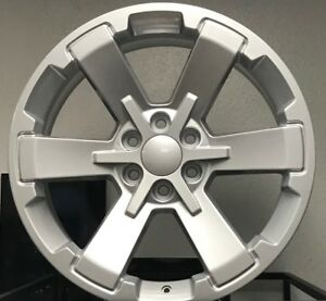 4 24 X 10 Chevy Sliverado 1500 Rally Ck 162 5662 Wheels Rims Silver Gmc