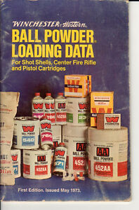 Winchester-Western Ball Powder Loading Data Shot Shell-Rifle-Pistol 1973 1st ed