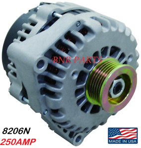 250 Amp 8206n Alternator Chevy Cadillac Gmc High Output Hd Performance Usa Made