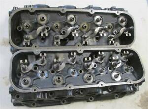 14097088 Big Block Chevy Cylinder Heads Rectangular Port Open Chamber Mercruiser