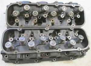 14097088 Big Block Chevy Cylinder Heads Rectangular Port Open Chamber Complete