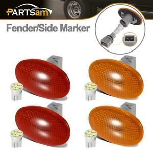 4pcs Amber Red 8 Led Fender Side Marker Light For Ford F 350 F 450 1999 2010
