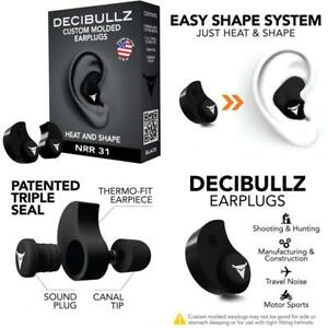 Decibullz Custom Molded Earplugs 31db Highest Nrr Comfortable Hearing Protec