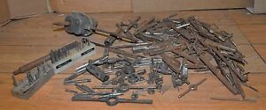 35 Lbs Vintage Taps Dies Tapping Head Reamers Machinist Blacksmith Tool Lot