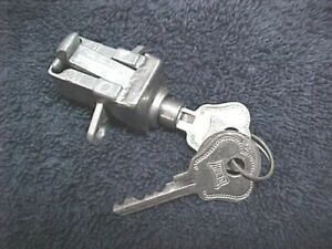 Nos Glove Box Lock With Hurd Keys 1941 Ford