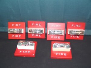 Lot Of 6 Cooper Wheelock Rss 24mcw fr 24vdc Fire Alarm Strobe Wall Mount Red