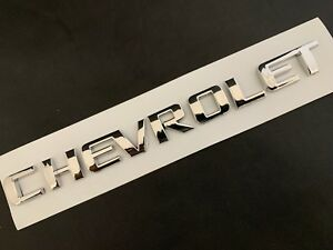 Chevrolet Letters Chevy Rear Trunk Tailgate Emblem Word Badge Name 10 11 12 16