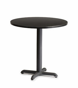Laminated Double Sided Wood 24 Round Restaurant Commercial Tables Iron Base