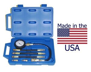 Deluxe Us Made Compression Tester Kit With Hoses And Quick coupler Design