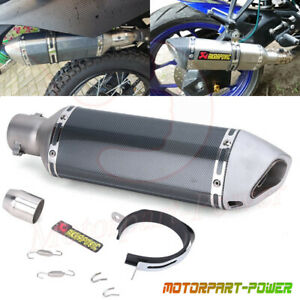 38 51mm Muffler Universal Aluminum Motorcycle Exhaust Pipe Tip Db Killer Slip On