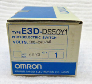 Omron Photoelectric Switch E3d ds50y1 New Old Stock