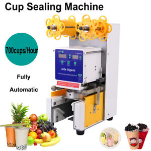 250w Automatic Electric Cup Sealer Sealing Machine Coffee Bubble Tea Cover Seal