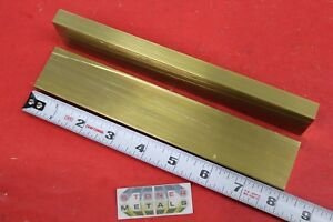 2 Pieces 1 2 x 1 1 2 C360 Brass Flat Bar 8 Long Solid Plate Mill Stock H02