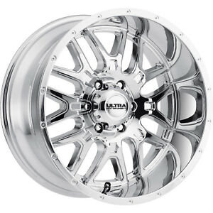 20x10 Chrome Ultra Hunter 203 8x6 5 25 Wheels Kenda Klever At 305 55 20 Tires