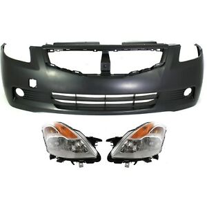Bumper Cover Kit For 2008 2009 Nissan Altima Front 2 Door Coupe With Headlight
