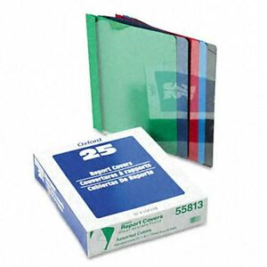 Clear Front Report Cover With Leatherette Cover 25 Per Box
