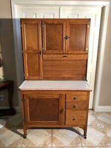 Oak Hoosier Style Sellers Cabinet W Flour Bin Fully Restored And In Great Cond