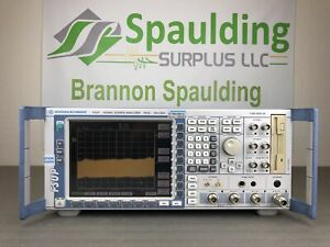 Rohde Schwarz Fsup26 20 Hz 26 5 Ghz Signal Source Analyzer Loaded Mfg Cal d