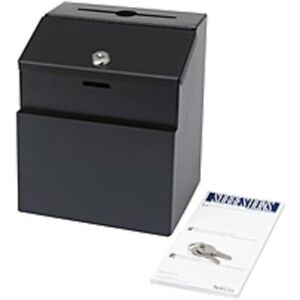Safco Steel Suggestion Box External Dimensions 7 3 Width X 6 Depth X 8 5 Heig